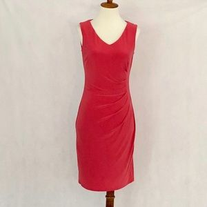 Anne Klein Sleeveless Rust Ruched Bodycon Dress